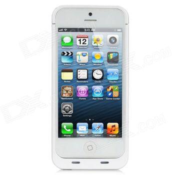 Pouzdro s baterii 3000mAh pro iPhone 5/5S - bílá