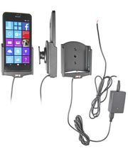 Brodit držák do auta na Microsoft Lumia 640 XL bez pouzdra, se skrytým nabíjením