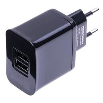 Doro nabíjecí USB adaptér Primo, 2xUSB, 3,1A, černá