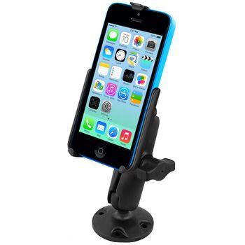 RAM Mounts držák na iPhone 5C do auta na palubní desku, skútr, atd. na šroubky nebo vruty, AMPS, plast, sestava RAP-B-138-AP16U