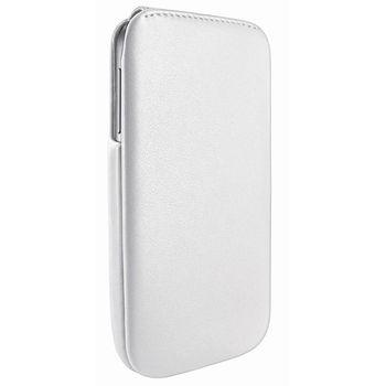 Piel Frama pouzdro pro Samsung Galaxy S4 iMagnum, White, kvalitní kůže, ruční výroba Španělsko