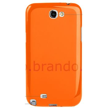 Pouzdro plastové měkké Brando - Samsung Galaxy Note II (černé)