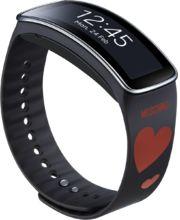 Samsung výměnný pásek ET-SR350RR pro Gear Fit - speciální edice, Black + Red Heart