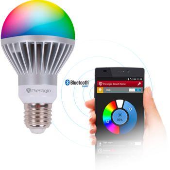 PRESTIGIO chytrá žárovka s Bluetooth Smart LED, 450lm, patice E27, barevná