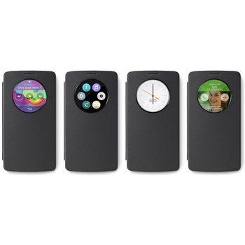 LG flipové pouzdro QuickCircle CFV-120 pro LG G4 Stylus, šedé