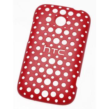 HTC pouzdro děrované Hard Shell HC C780 pro HTC Desire C, červené