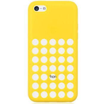 Brando zadní kryt Hole Silicone pro iPhone 5C, žlutá