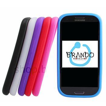 Silikonové pouzdro - Samsung Galaxy S III i9300 (červená)
