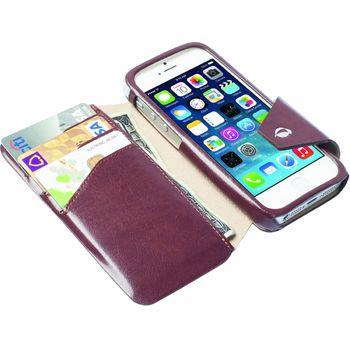 Krusell pouzdro FlipWallet Kalmar - Apple iPhone 5S/5C/5, hnědá