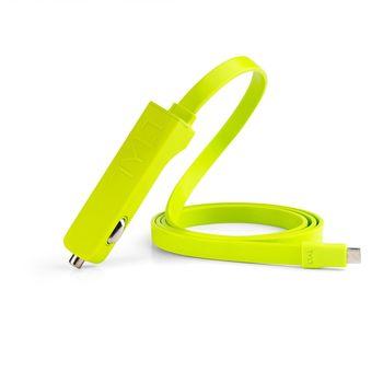 Tylt nabíječka do auta Ribbn microUSB, zelená