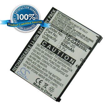 Baterie pro Garmin Asus Nüvifone M20, Li-ion 3,7V 920mAh