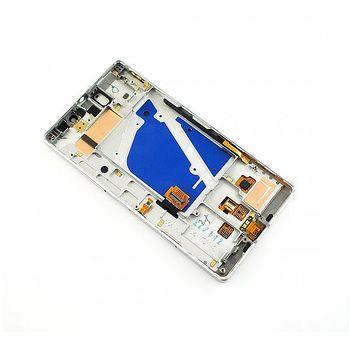 Náhradní díl LCD displej + dotyková deska + přední kryt pro Nokia Lumia 930, stříbrný