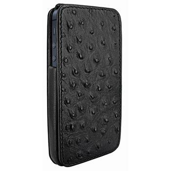 Piel Frama pouzdro pro iPhone 5 iMagnum, Ostrich Black, kvalitní kůže, ruční výroba Španělsko