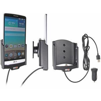 Brodit držák do auta na LG G3 bez pouzdra, s nabíjením z cig. zapalovače/USB