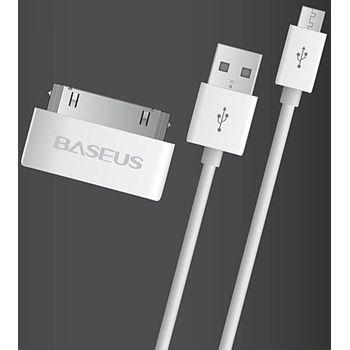 Kabel USB - micro USB s adaptérem na Apple 30pin (kabel USB - Apple 30pin)