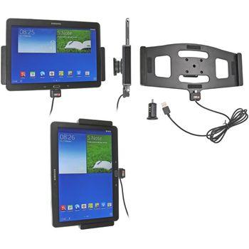 Brodit držák do auta na Samsung Note 10.1. model 2014 bez pouzdra, s nabíjením z cig. zapalovače/USB