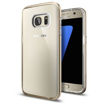 Spigen pouzdro Neo Hybrid Crystal pro Galaxy S7 edge, růžové