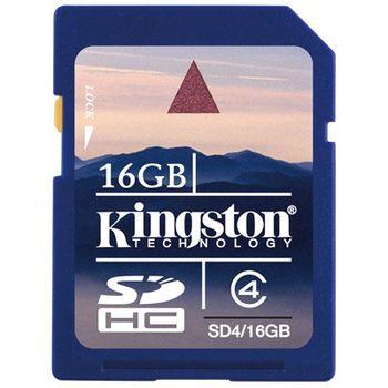 Kingston SDHC 16GB Class 4 paměťová karta (Secure Digital)