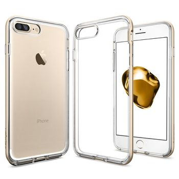 Spigen ochranný kryt Neo Hybrid Crystal pro iPhone 7 plus, zlatá
