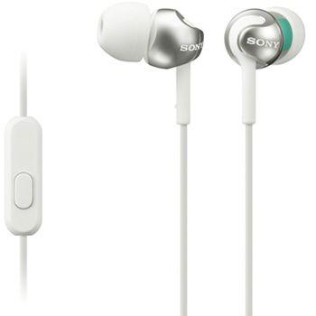 SONY sluchátka MDR-EX110AP, bílá