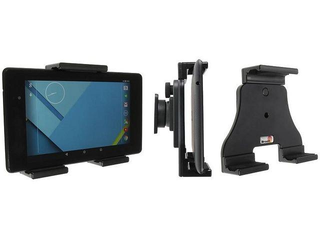 obsah balení Brodit sestava otočného montážního podstavce, MultiMove clipu a nastavitelného držáku pro tablet, 120-150mm, bez nabíjení, (215855)