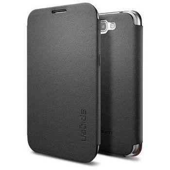 Spigen Samsung Galaxy Note II Ultra Flip ochrané pouzdro černé