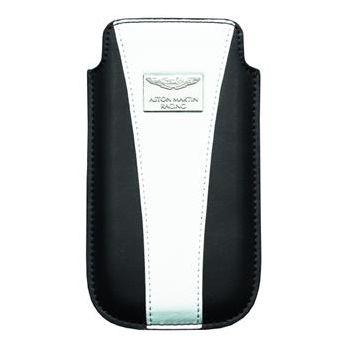 Aston Martin Racing Chic, kožené pouzdro, velikost L, modrobílé