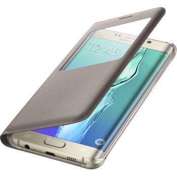 Samsung flipové pouzdro S View EF-CG928PF pro Galaxy S6 edge+ (G928), zlaté