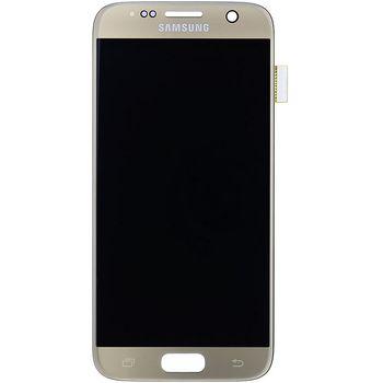 Náhradní díl LCD display + Dotyk Samsung G930 Galaxy S7 zlatá