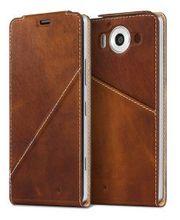 Mozo flipové pouzdro pro Lumia 950, hnědé