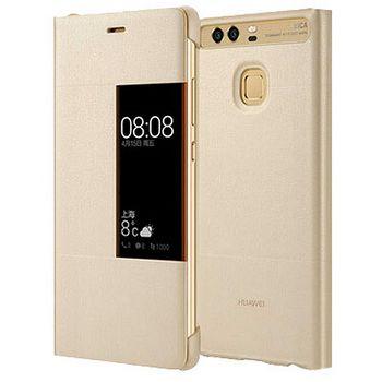 Huawei flipové pouzdro S-View pro P9, zlaté