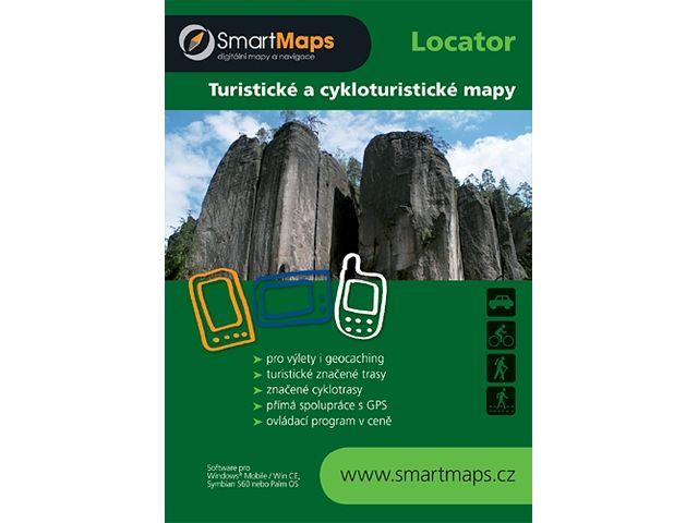 """obsah balení Držák BikeConsole univerzální na kolo nebo motorku na řídítka pro uchycení telefonu, max 4,8"""" + Smartmaps cykloturisticky atlas 1:40tis"""