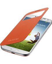 Samsung flipové pouzdro S-view EF-CI950BO pro Galaxy S4 (i9505), oranžové