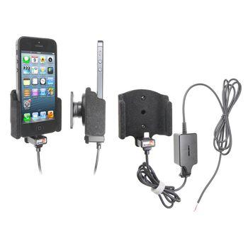 Brodit držák do auta na Apple iPhone 5/5S/SE bez pouzdra, se skrytým nabíjením, samet