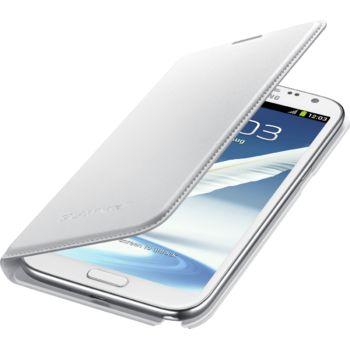 Samsung flipové pouzdro s kapsou EF-NN710BW pro Galaxy Note II, bílé