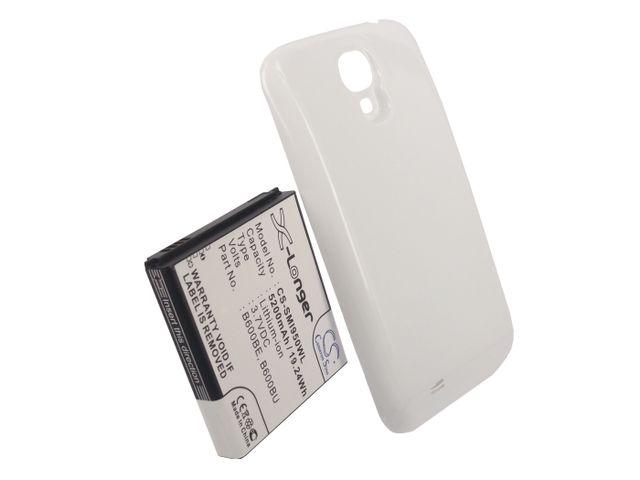 obsah balení Baterie pro Samsung Galaxy S4 (i9505), rozšířená včetně bílého krytu, 5200mAh, Li-ion + univerzální nabíječka baterií