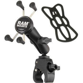 RAM Mounts univerzální držák na mobilní telefon se svěrkou s ručním upínáním na řídítka/tyč o Ø 15,9-38,1mm, X-Grip, sestava RAM-B-400-UN7U