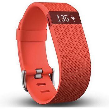 Fitbit Charge HR (s měřením tepu), velikost S, oranžový