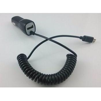 Autonabíječka microUSB + 1 volný USB konektor, 1A