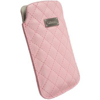 Krusell pouzdro Avenyn M - Samsung S5230, Nokia C5/6700/6303, X10 mini  105x55x15 (růžová)