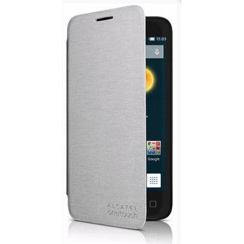 ALCATEL ONETOUCH 4013D Pixi 3 (4) FlipCover, stříbrný