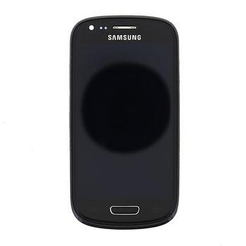 Náhradní díl LCD displej s dotyk vrstvou + přední kryt pro Samsung i8200 Galaxy S III Mini VE, černá