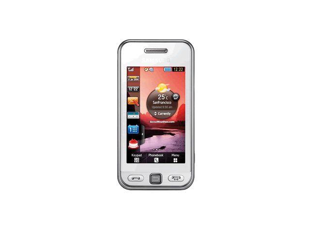 obsah balení Samsung S5230 Star White + pouzdro Krusell Gaia černé