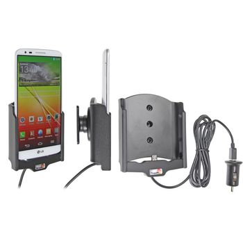 Brodit držák do auta na LG G2 bez pouzdra, s nabíjením z cig. zapalovače/USB