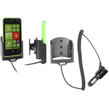 Brodit držák do auta na Nokia Lumia 620 bez pouzdra, s nabíjením z cig. zapalovače