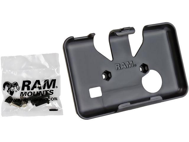 obsah balení RAM Mounts držák na Garmin nuvi 50, na kolo na řídítka, pogumovaný pásek Ø až 60mm, sestava RAP-SB-187-GA50U