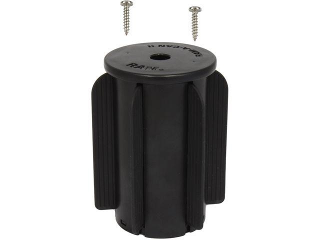 obsah balení RAM Mounts univerzální držák na mobilní telefon s krátkým ramenem do auta do držáku na nápoje, X-Grip, vysokopevnostní plast, sestava RAP-299-3-UN7B-AU