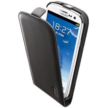 Artwizz Seejacket pouzdro kožené FLIP PLUS pro Samsung Galaxy S III - černé matné