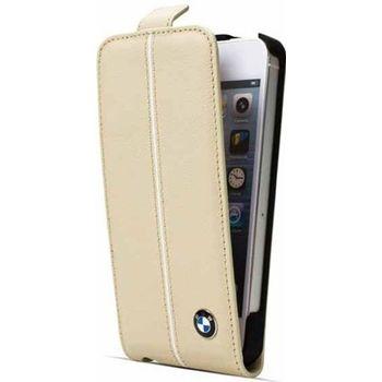 BMW Signature Edition Flip pouzdro iPhone 5, Krémové