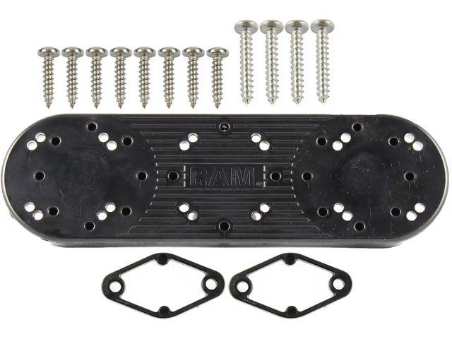 obsah balení RAM Mounts trojadaptér s dvěma vysoce kvalitními přísavkami o průměru 84 mm, RAP-333-224-1U